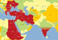 Carte du champ d'action de l'Oeuvre d'Orient