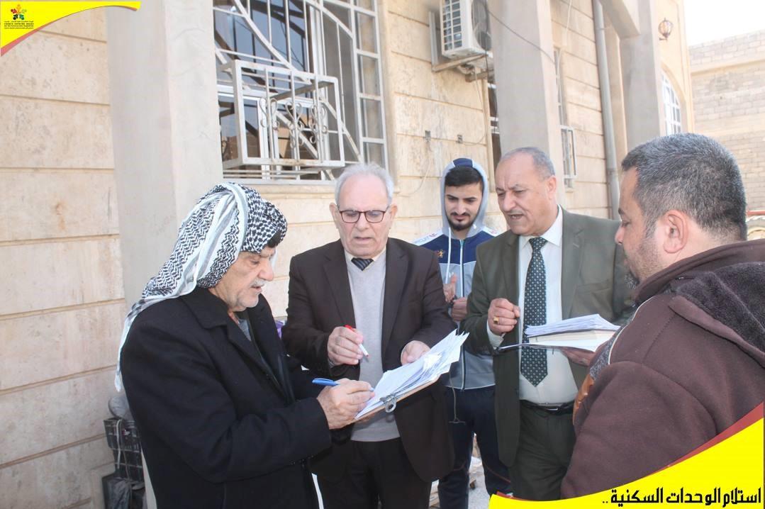 réunion de chantier des maisons à Qaraqosh